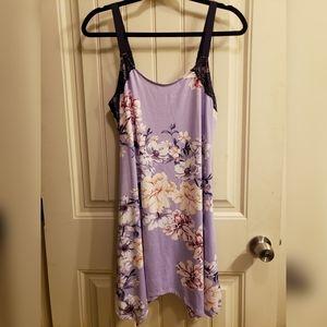Floral imitates slip dress